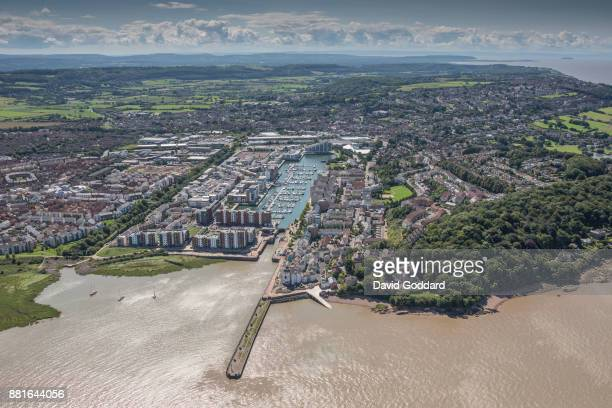 KINGDOM AUGUST 2017 Aerial photograph of Portishead Quay Marina on August 15th 2017 Located on the southern banks of the Bristol Channel five miles...