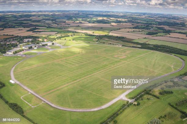 KINGDOM AUGUST 2017 Aerial photograph of South Cerney AirfIield on August 15th 2017 This former RAF training field dates back to 1937 currently owned...