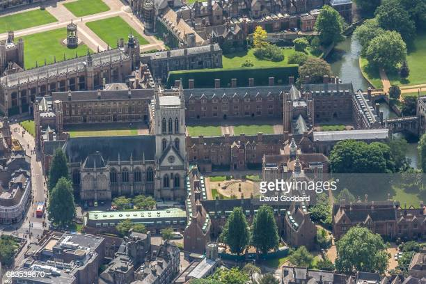 MAY 23 Aerial photograph of St John's College Cambridge on May 23 2012 The College of St John the Evangelist of the University of Cambridge was...