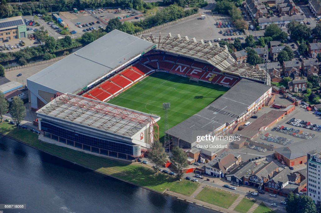 An aerial photograph of City Ground, home of Nottingham Forest Football Club : News Photo