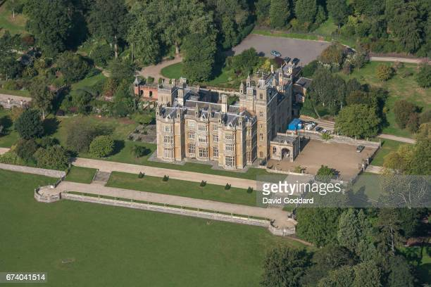 Aerial photograph of the Elizabethan mansion, Englefield House on September 26, 2010. This grade one listed building is located 5 miles west of...