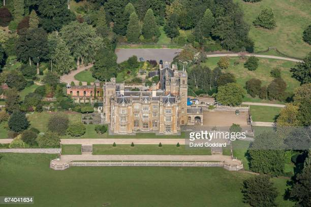 KINGDOM SEPTEMBER 26 Aerial photograph of the Elizabethan mansion Englefield House on September 26 2010 This grade one listed building is located 5...