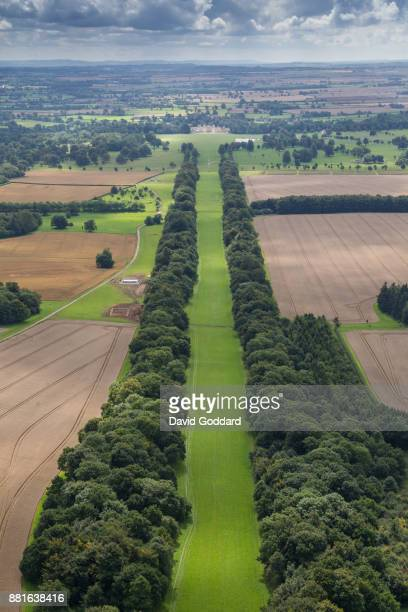 AUGUST 2017 Aerial photograph of the grade 1 listed Badminton House on August 15th 2017 This palladium style country house was the principal seat of...