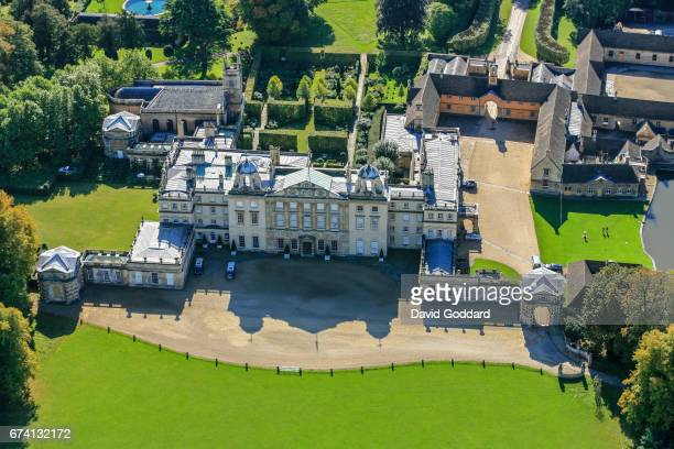 OCTOBER 03 Aerial photograph of the grade 1 listed Badminton House on October 03 2010 This palladium style country house was the principal seat of...