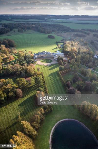 KINGDOM OCTOBER 20 Aerial photograph of the grade 1 listed Hackworth House on October 20 2010 This Country manor house was the former home of the...