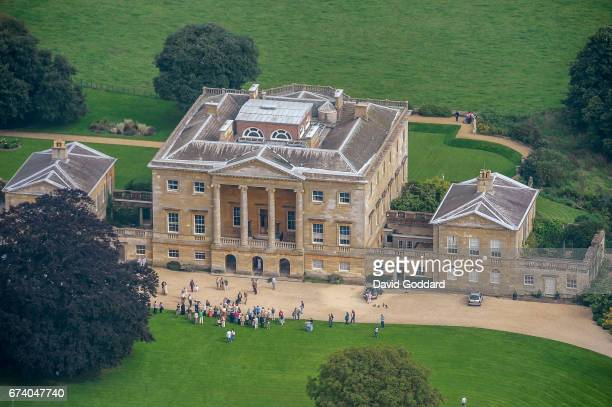 Aerial photograph of the grade one listed, Basildon Park on September 18, 2010. This Palladian style country house was built in 1783 it is located 7...