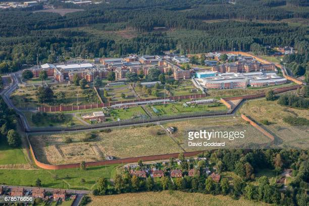 BERKSHIRE ENGLAND APRIL 07 Aerial photograph of the high security psychiatric Broadmoor Hostpital on April 07 2014 This Sir Joshua Jebb designed...