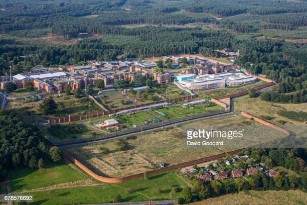 BERKSHIRE ENGLAND SEPTEMBER 20 Aerial photograph of the high security psychiatric Broadmoor Hostpital on September 20 2014 This Sir Joshua Jebb...