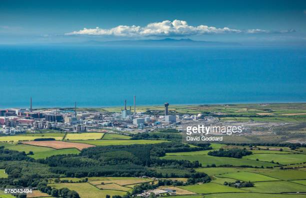 Aerial photograph of the nuclear fuel processing site of Sellafield on July 13 2017 in Seascale England