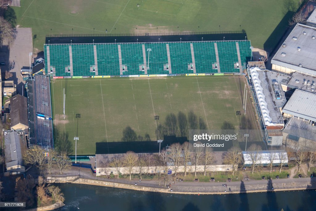 Aerial View of The Rec home of Bath Rugby Club : News Photo