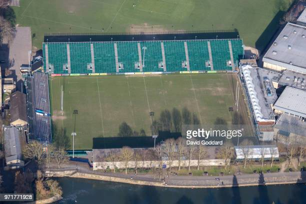 Aerial Photograph of the Rec, Bath Rugby's home since 1894 on March, 22nd 2017. Located on the easten bank of the River Avon 300 metres north east of...