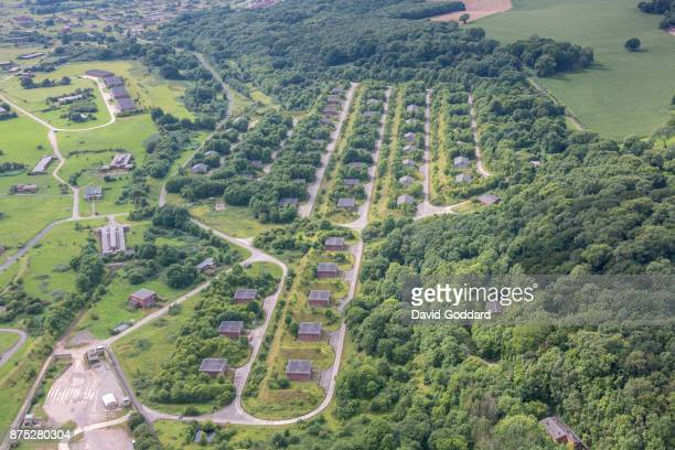 Aerial photograph of the Royal Navy Propellant Factory Caerwent on August 10 2017 in Caerwent Wales