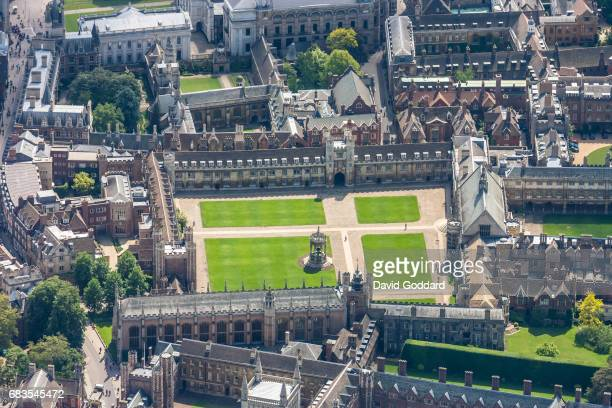 CAMBRIDGE ENGLAND MAY 23 Aerial photograph of Trinity College Cambridge on May 23 2007 This constituent college of the University of Cambridge was...