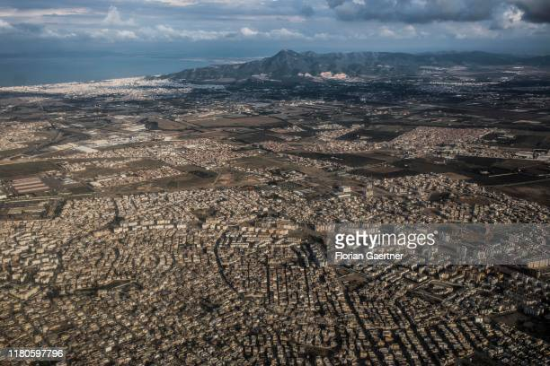Aerial photograph of Tunis on October 27 2019 in Tunis Tunisia