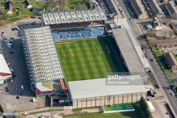 BURNLEY ENGLAND MARCH 26 Aerial photograph of Turf Moor home ground to Burnley Football Club Lancashire on March 26 2017 Located to the west of the...