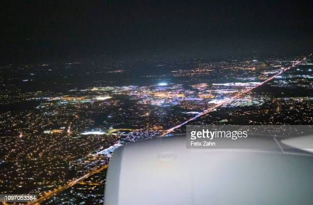 Washington United States of America February 06 Aerial photograph of Washington at the approach to the airport Dulles International on February 06...