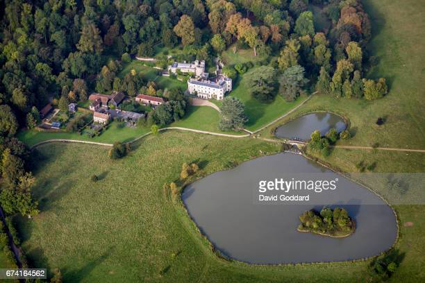 KINGDOM SEPTEMBER 26 Aerial photograph of Wormsley Park the former home of the philanthropist Sir Paul Getty on September 26 2010 This grade two...