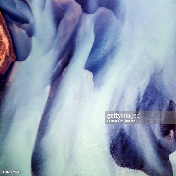 aerial photography abstract landscape - gunnar örn árnason stock pictures, royalty-free photos & images