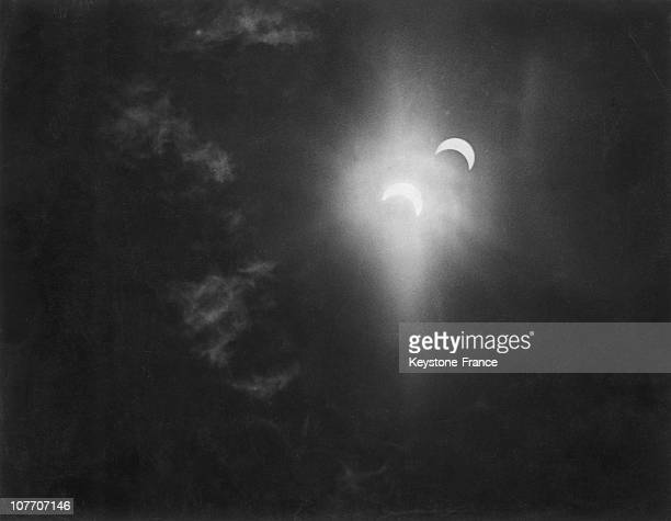 Aerial Photography An Eclipse Of The Sun Reflected In A Cloud Above High Wycombe, England June 30, 1954.