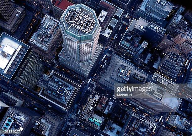 aerial photography in ny - new york città foto e immagini stock