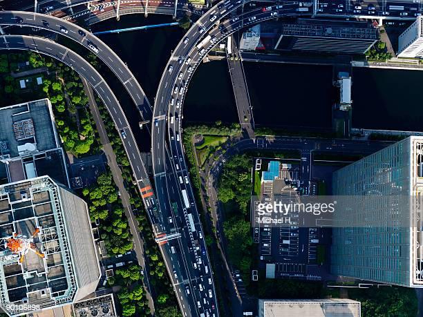 Aerial photography of [Hamasakihashi] junction