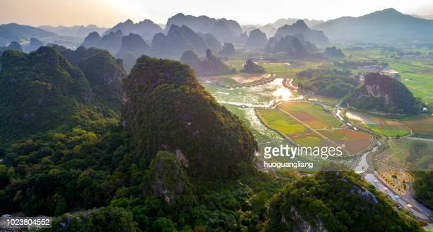 Aerial photography of karst topography tourist areas