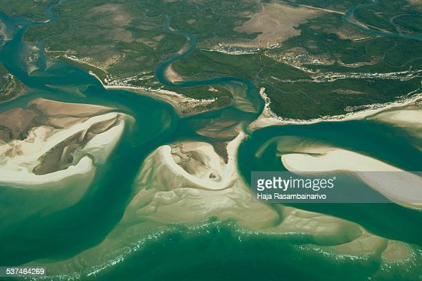 Aerial photography of Madagascar river mouth