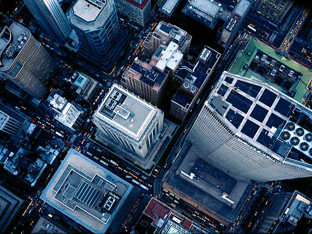 Aerial photography of MetLife Building, NY