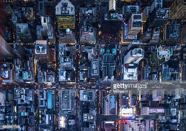 aerial photography of ny - st. patricks cathedral manhattan stock photos and pictures