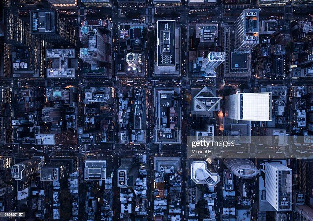 Aerial photography of NY : Stock Photo