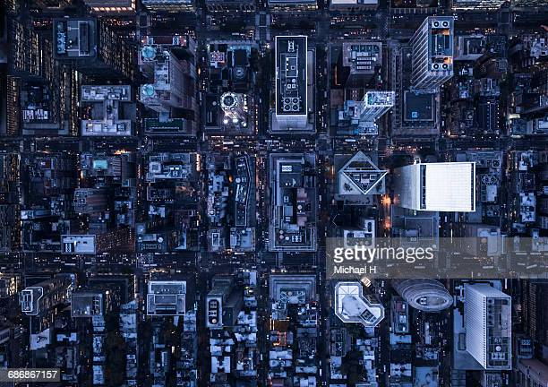 aerial photography of ny - new york city stock-fotos und bilder
