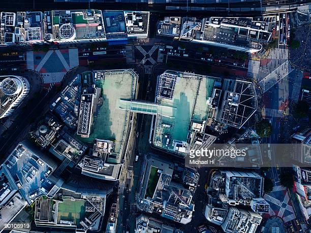 Aerial photography of Shibuya