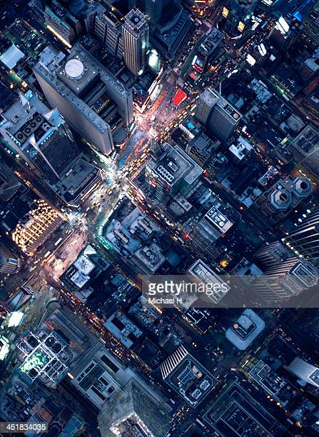 Aerial photography of Times Square, NY