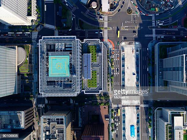 Aerial photography of Tokyo Station
