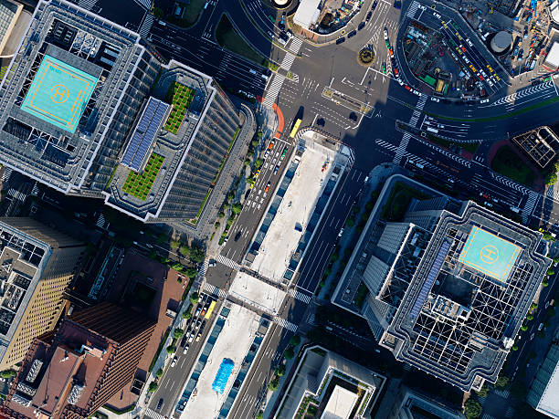 Aerial Photography Of Tokyo Station Wall Art