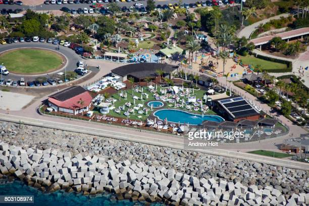 aerial photography view north-east of amadores in platero, gran canaria. canary islands, spain. - atlantic islands stock pictures, royalty-free photos & images