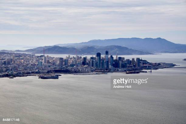 aerial photography view north-west of san francisco, san francisco bay area. california, united states. - dogpatch stock pictures, royalty-free photos & images