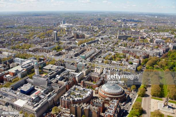 Aerial photography view south-west of Knightsbridge. London SW7 UK.
