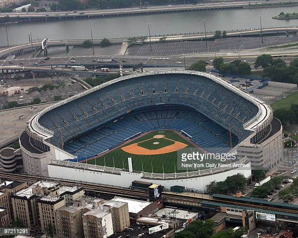 Aerial photos of old Yankee Stadium in the Bronx