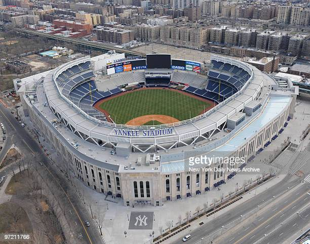 Aerial photos of the new Yankee Stadium in the Bronx