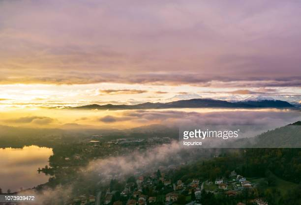 aerial - varese stock pictures, royalty-free photos & images