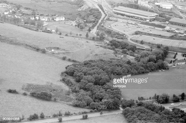 Aerial picture of the area of Llandarcy near Swansea South Wales 21st September 1973 The Saturday Night Strangler Case September 1973 Sixteenyearolds...