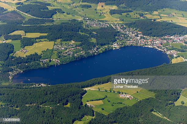 Aerial picture of Titisee Lake, Black Forest, Baden-Wuerttemberg, Germany, Europe