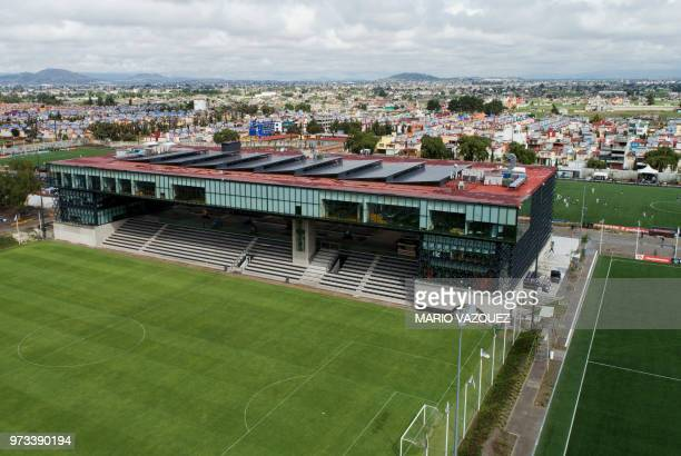 Aerial picture showing the headquarters of the Mexican Football Federation in Toluca Mexico on June 13 2018 day in which FIFA announced the United...