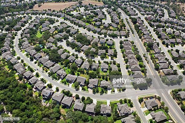 Aerial residential Austin Texas