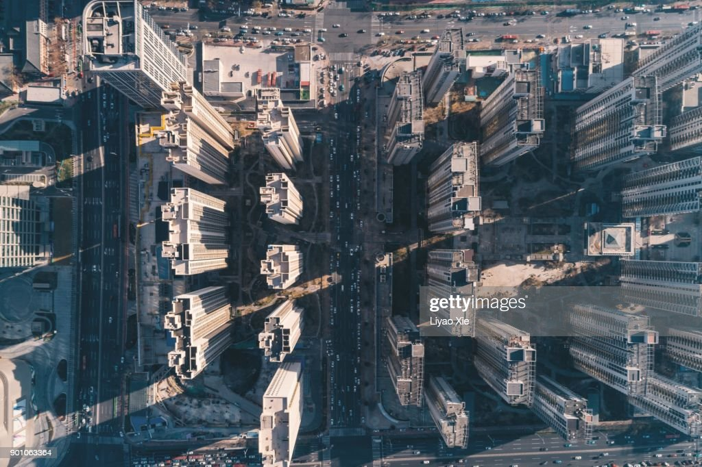 aerial residential building : Stock-Foto