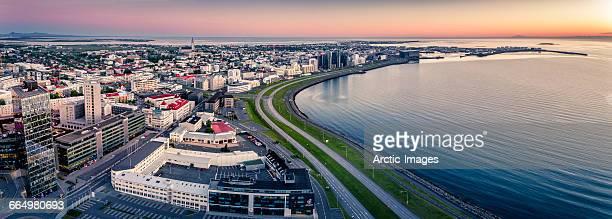 Aerial Reykjavik Skyline, Iceland