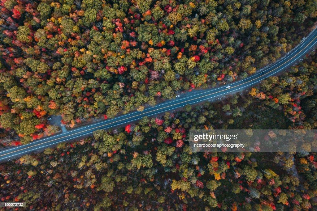 Aerial Road Trip in Minnewaska State Park Preserve : Stock Photo