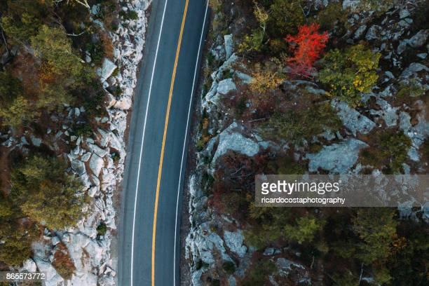 Voyage sur la route aérienne à Minnewaska State Park préserver