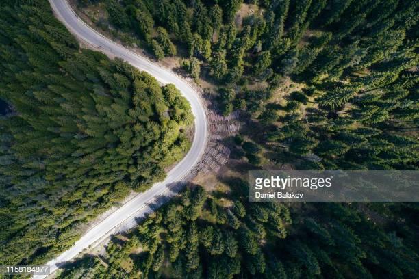 aerial road trip - vitalità foto e immagini stock